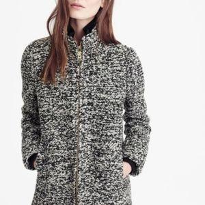 JCREW Lodge Coat Speckled Boucle